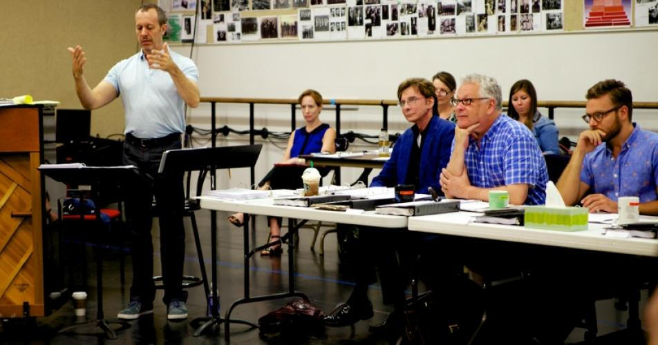 """Harmony"" first rehearsal (courtesy Alliance Theatre)"